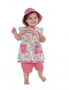 Baby playsuit set in Ladybird floral in-sizes 0-3y £28 (hat sold separately)