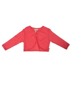 Pointelle cardigan in washed red- ages 3-10y- £15 (also available in baby sizes)