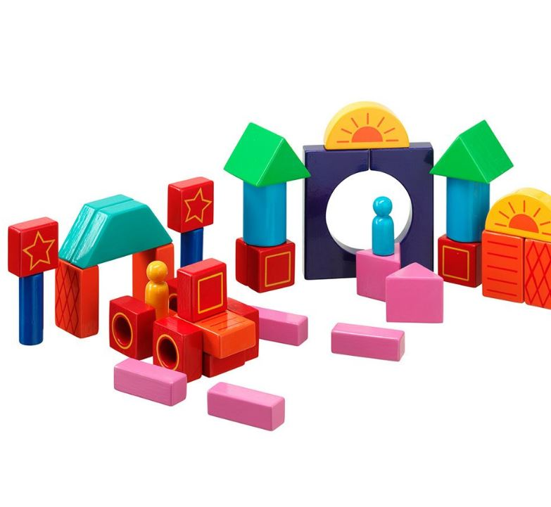 Set of 38 Colourful Building Blocks - Lanka Kade