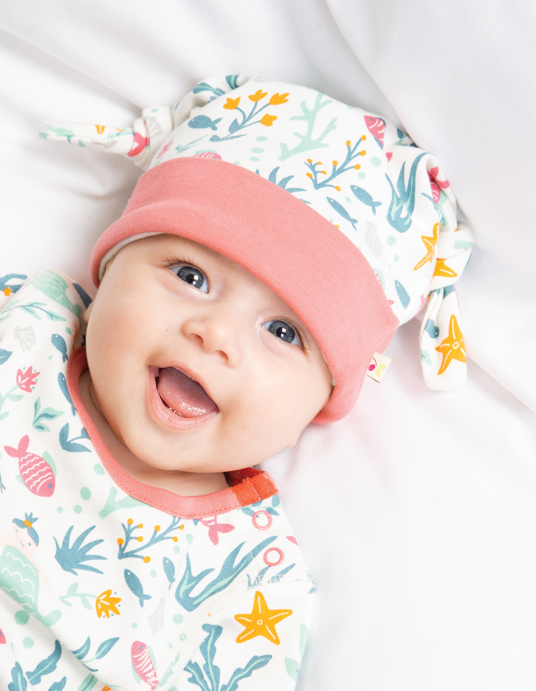 Frugi babygrow and hat