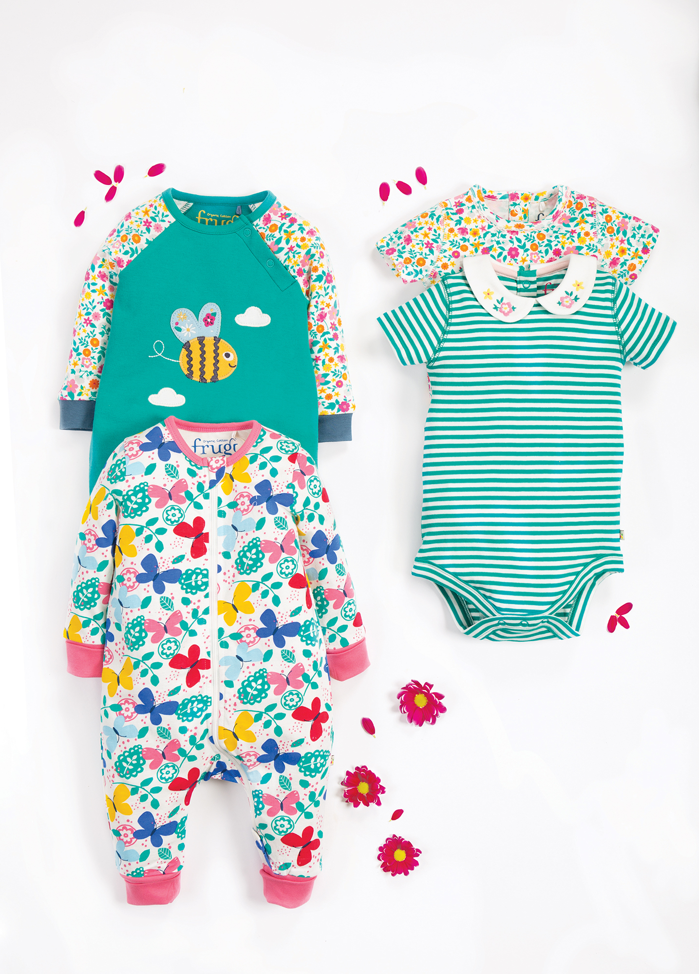 babygrows and rompers